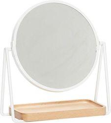 Tafelspiegel - Wit - Beukenhout - Metaal - Hubsch